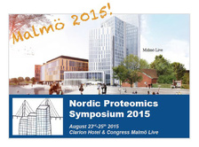 inviitation to nordic proteomics congress 2015 malmo sweden peter